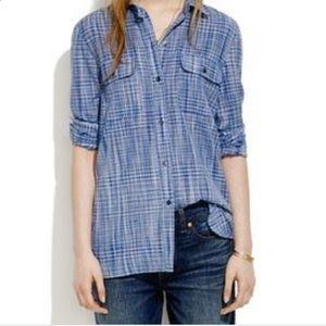Madewell • Ex-Boyfriend Shirt In Indigo Weave